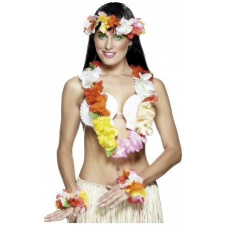 Hawaiian Set Adult Costume Accessory Multicoloured - Hawaian Costumes