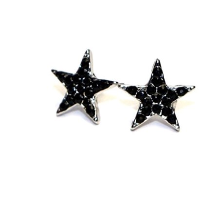 Buyless Fashion Surgical Stainless Steel Girls Mini Star Stud Earrings - Red
