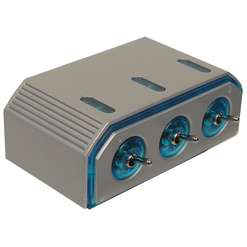 Custom Accessories 12V Triple Socket with Toggle Switches