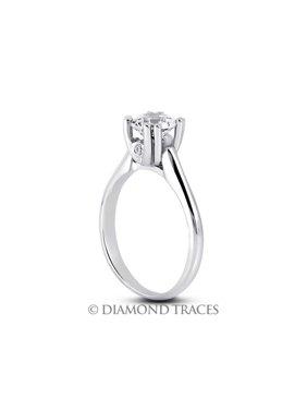 0.34ct tw D-VS2 Ideal Round Genuine Diamonds 18k Gold Classic Wedding Ring 2.4mm