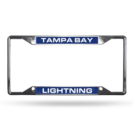 Tampa Bay Lightning Sparo Chrome License Plate Frame with Laser Inserts - No Size Chrome Plated Insert