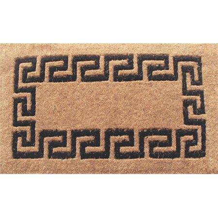 Geo Crafts G285-phlcm2439b 24 x 39 in. Monogrammed Coco Fiber Leaf Mat with Black Design](Crafts With Leaves)