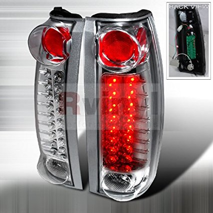 2006 Cadillac Escalade Led (Cadillac Escalade 1999 2000 LED Tail Lights - Chrome)