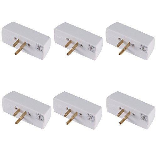 GE Grounding Triple Tap, White (Pack of 6)...