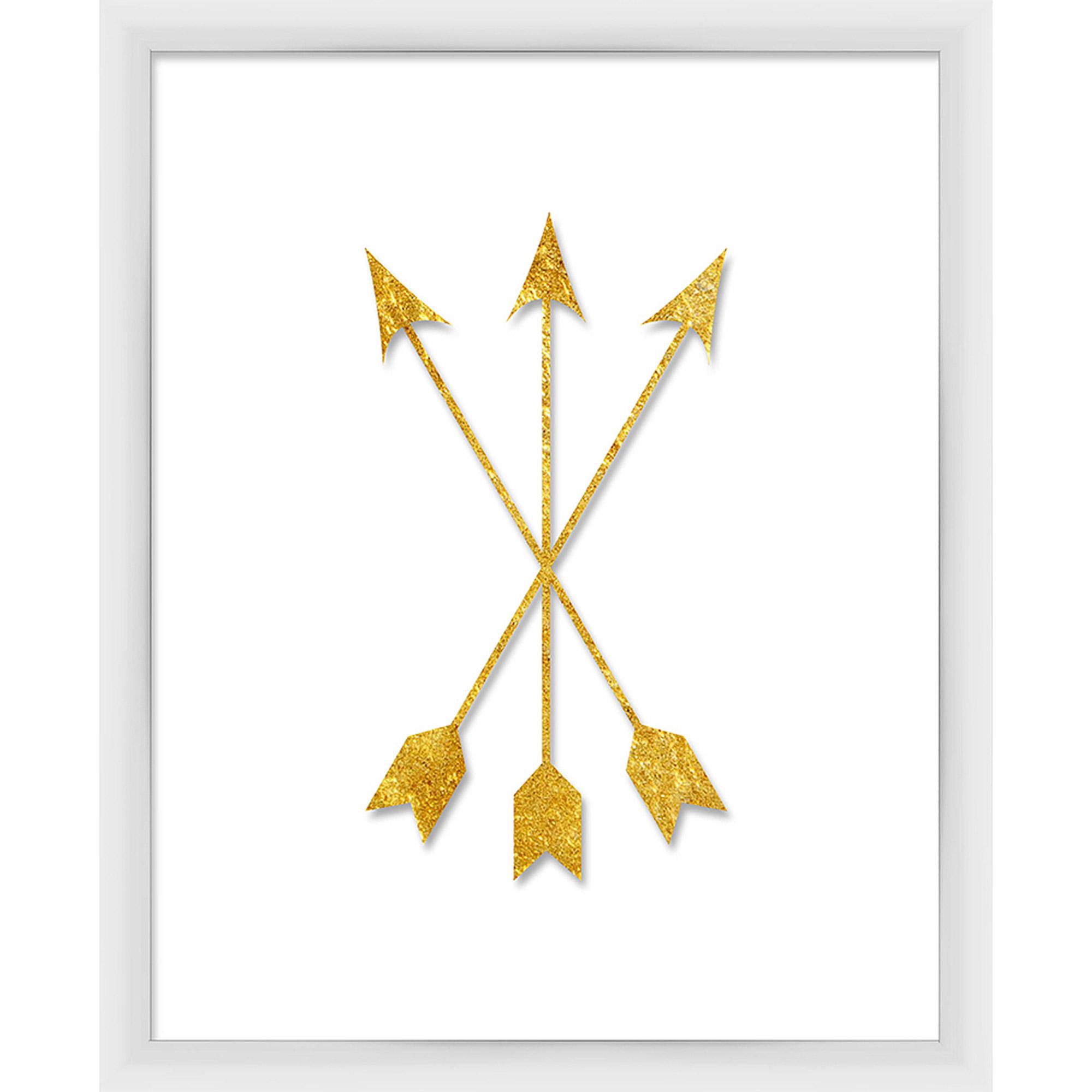 Gold Arrow Cross Wall Art, 18.75x22.75