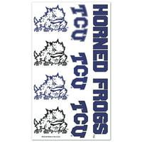 Tcu Horned Frogs Temporary Tattoos
