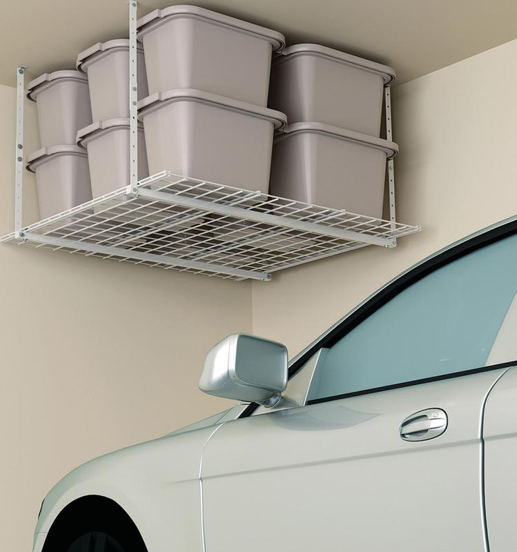 HyLoft 540 45-Inch-by-45-Inch Overhead Storage System, White