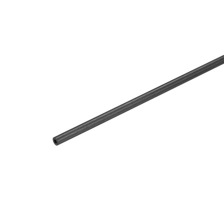Carbon Fiber Round Tube 1.8mm x 1mm x 200mm Carbon Fiber Wing Pultrusion Tubing for RC Airplane 1 Pcs