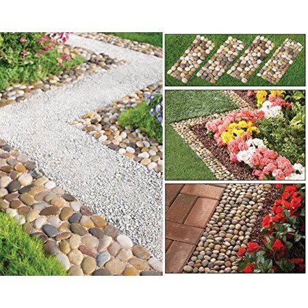 Stone Garden Border Path Mats - Set Of 4 by Collections (Montecito Stone)