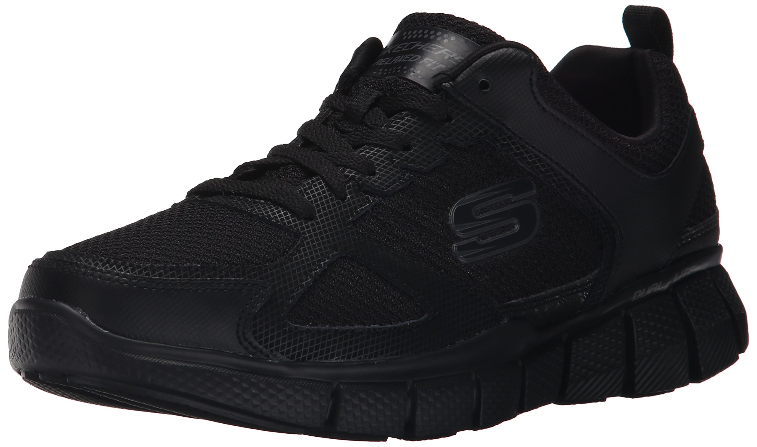Skechers Sport Men's Equalizer 2.0 True Balance Sneaker,All Black,7.5 M US