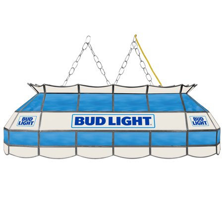 "Bud Light 40"" Stained Glass Billiard, Pool Table Lamp"