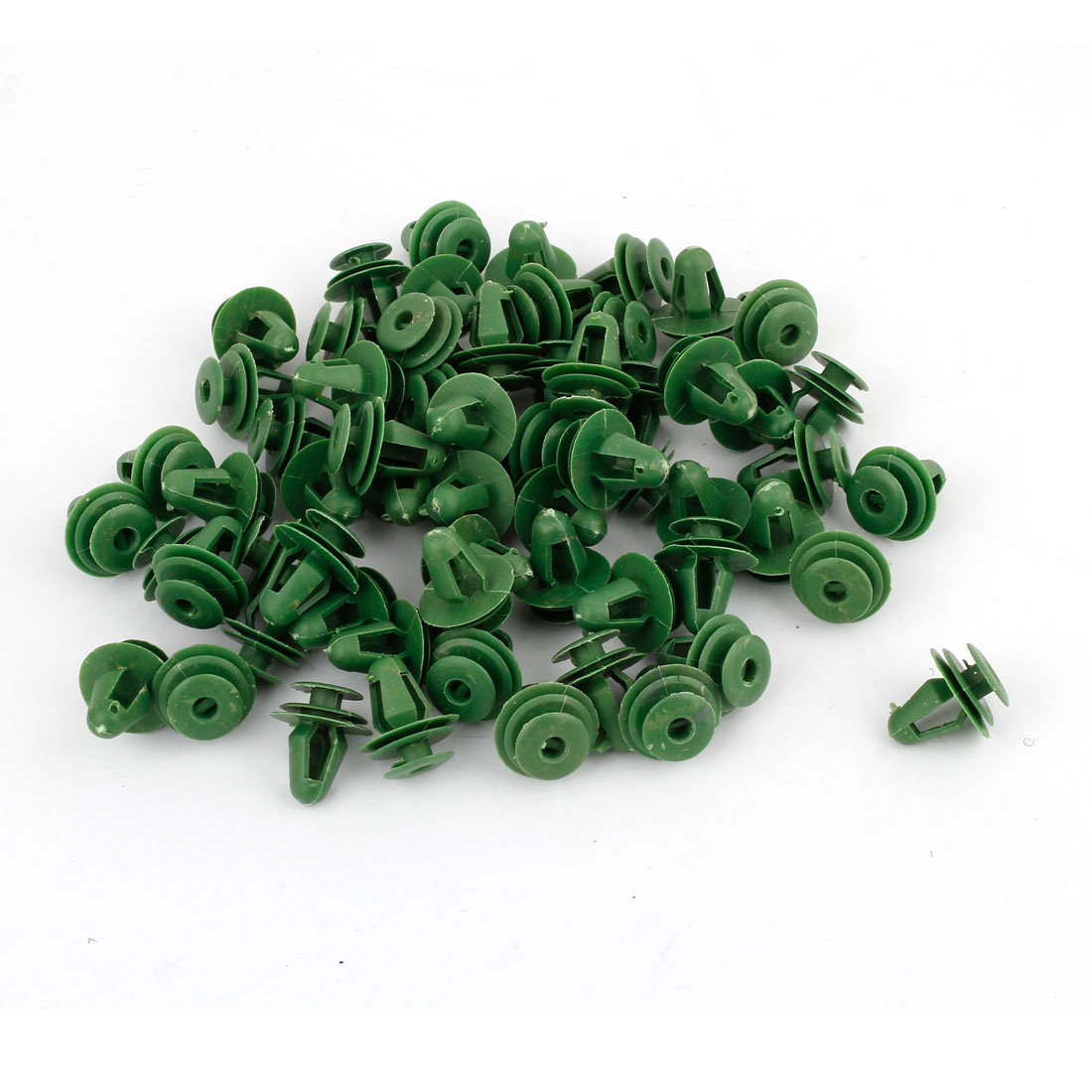 Unique Bargains 100 Pcs Green Plastic Push in Rivets Trim Clip Retainer for Car Auto Airplane