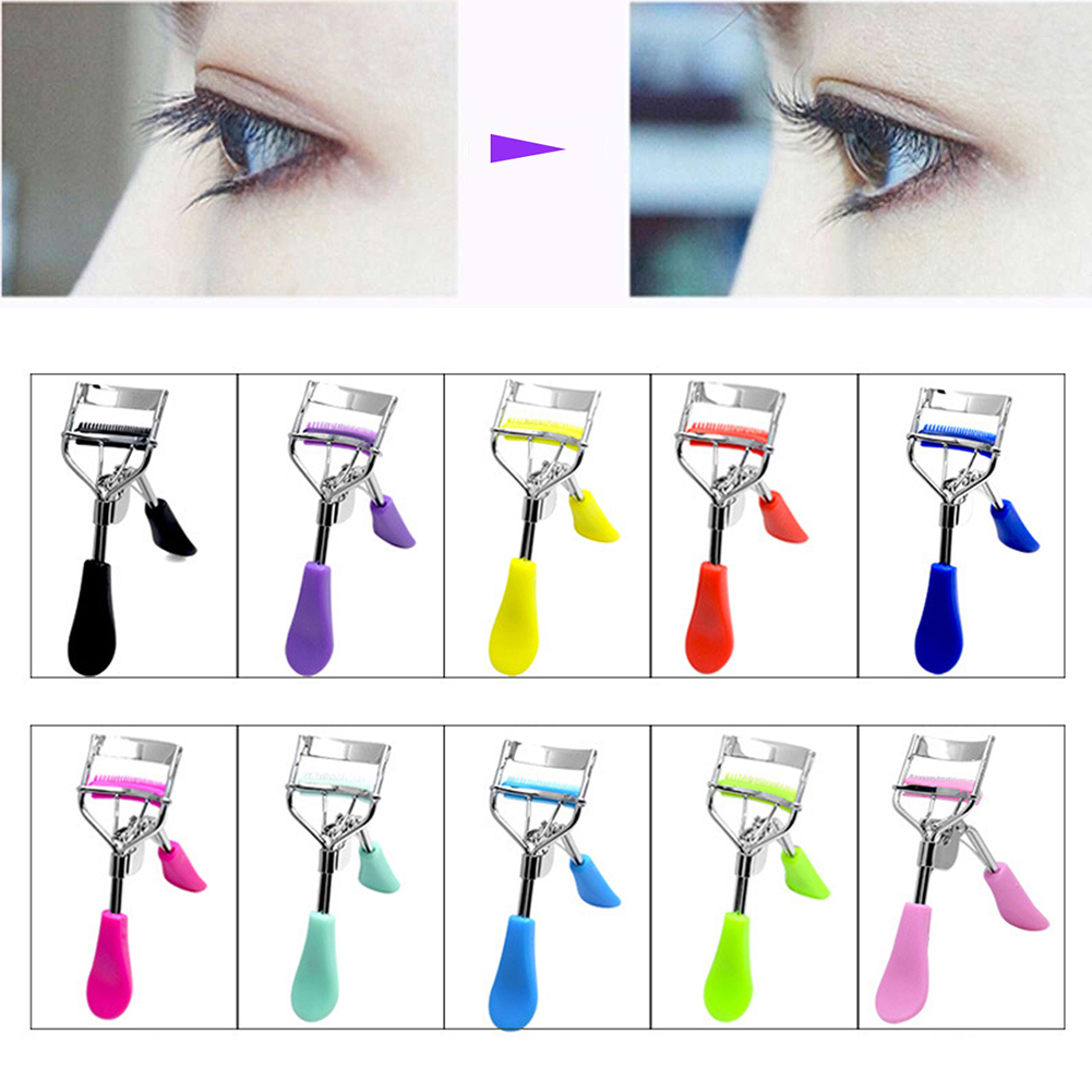 Fashion Eye Makeup Curling Eyelash Curler with Comb Clip Women Beauty Tool