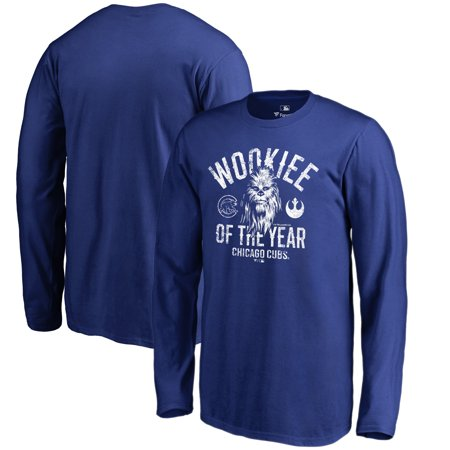 - Chicago Cubs Fanatics Branded Youth Star Wars Wookiee Of The Year Long Sleeve T-Shirt - Royal