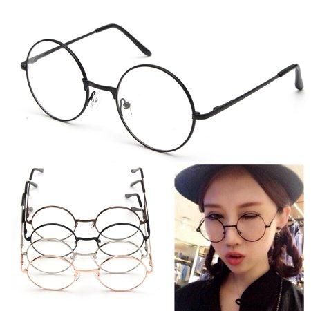 4fdbb8968cd2a M.way Fashion Retro Vintage Round Circle Metal Frame Eyeglasses Clear Lens  Eye Glasses Unisex Men Women - Walmart.com