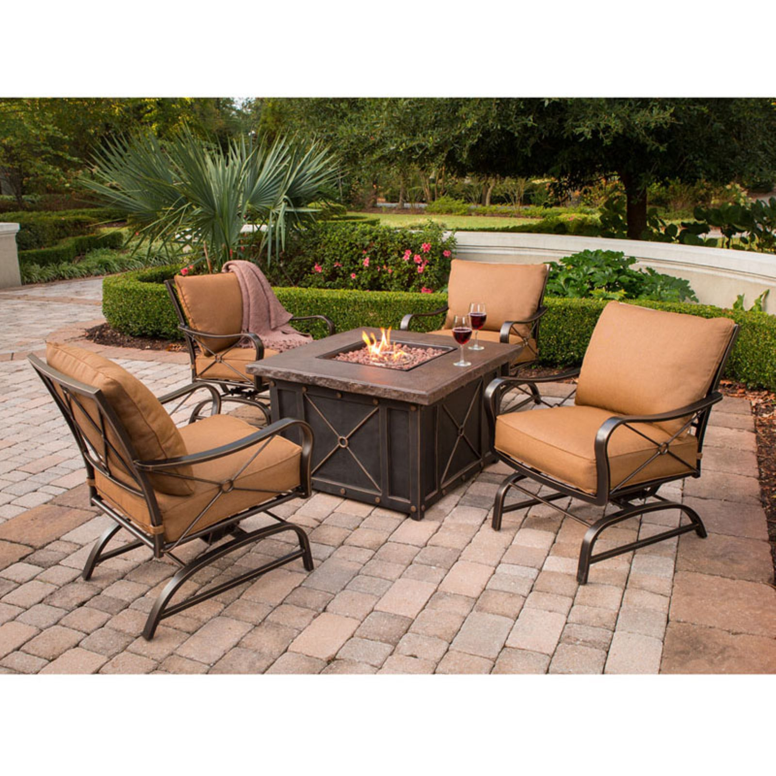 Summer Nights 5-Piece Fire Pit Lounge Set