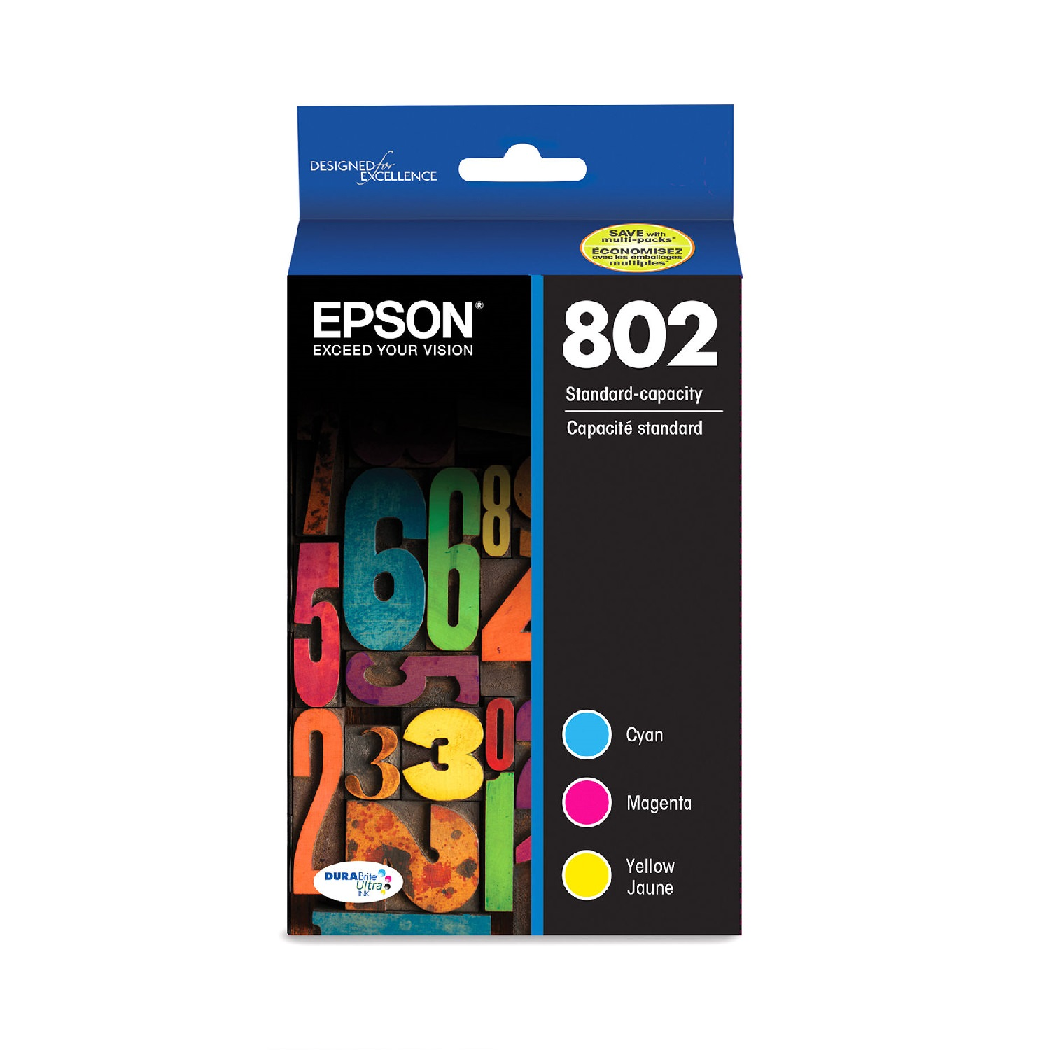 Epson DURABrite Ultra Ink 802 Ink Cartridge Multi Pack