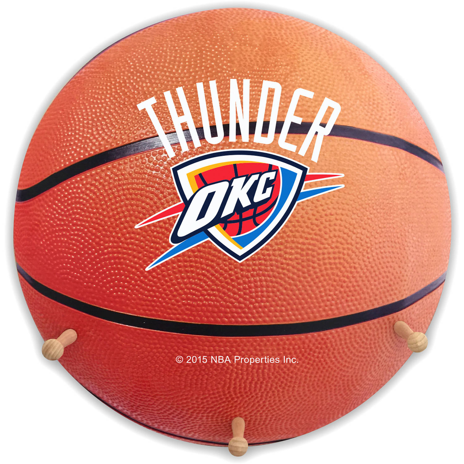 NBA Oklahoma City Thunder Basketball Coat Rack