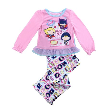 Dc Superhero Girls Justice league 2-piece pajama set with cape