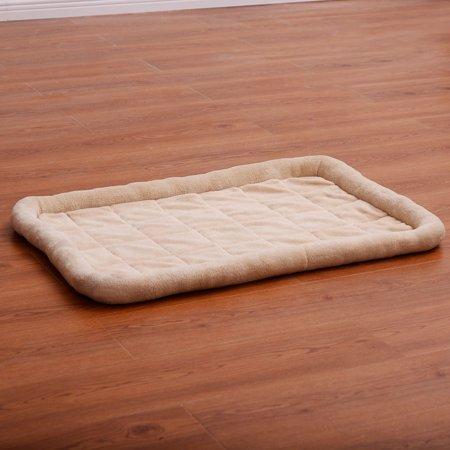 Costway Beige Pet Dog Cat Bed Cushion Mat Pad Kennel Crate Cozy Warm Soft House S - Dog Crate Cushions