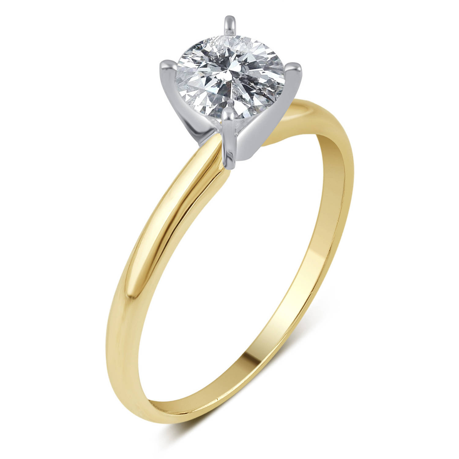 1 2 Carat T.W. IGL Certified Round Solitaire Diamond 14kt Yellow Gold Engagement Ring by Generic