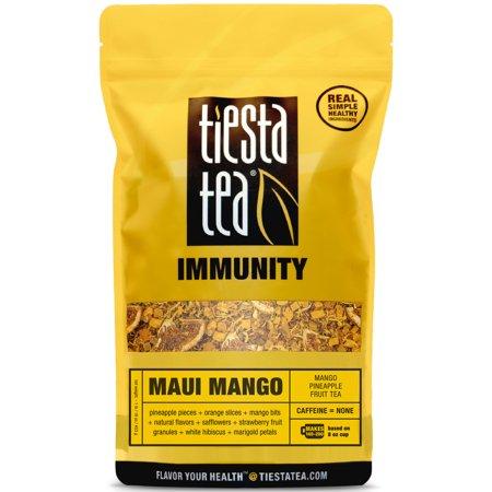 Loose 1 Lb - Tiesta Tea Immunity, Maui Mango, Loose Leaf Herbal Tea Blend, Caffeine Free, 1 Lb Bulk Bag