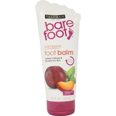 Freeman Bare Foot Softening Foot Balm, Peppermint & Plum 5.30 oz
