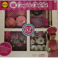 Alex Let's Cook Complete Chef Set Cupcake Pattern Dishes