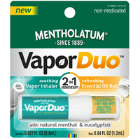 Mentholatum VaporDuo 2 in 1 Vapor Inhaler & Essential Oil Rub Aromatherapy