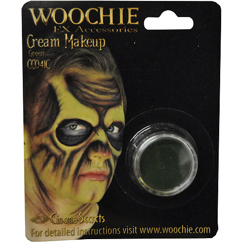 Carded Green Mask Cover Halloween Makeup