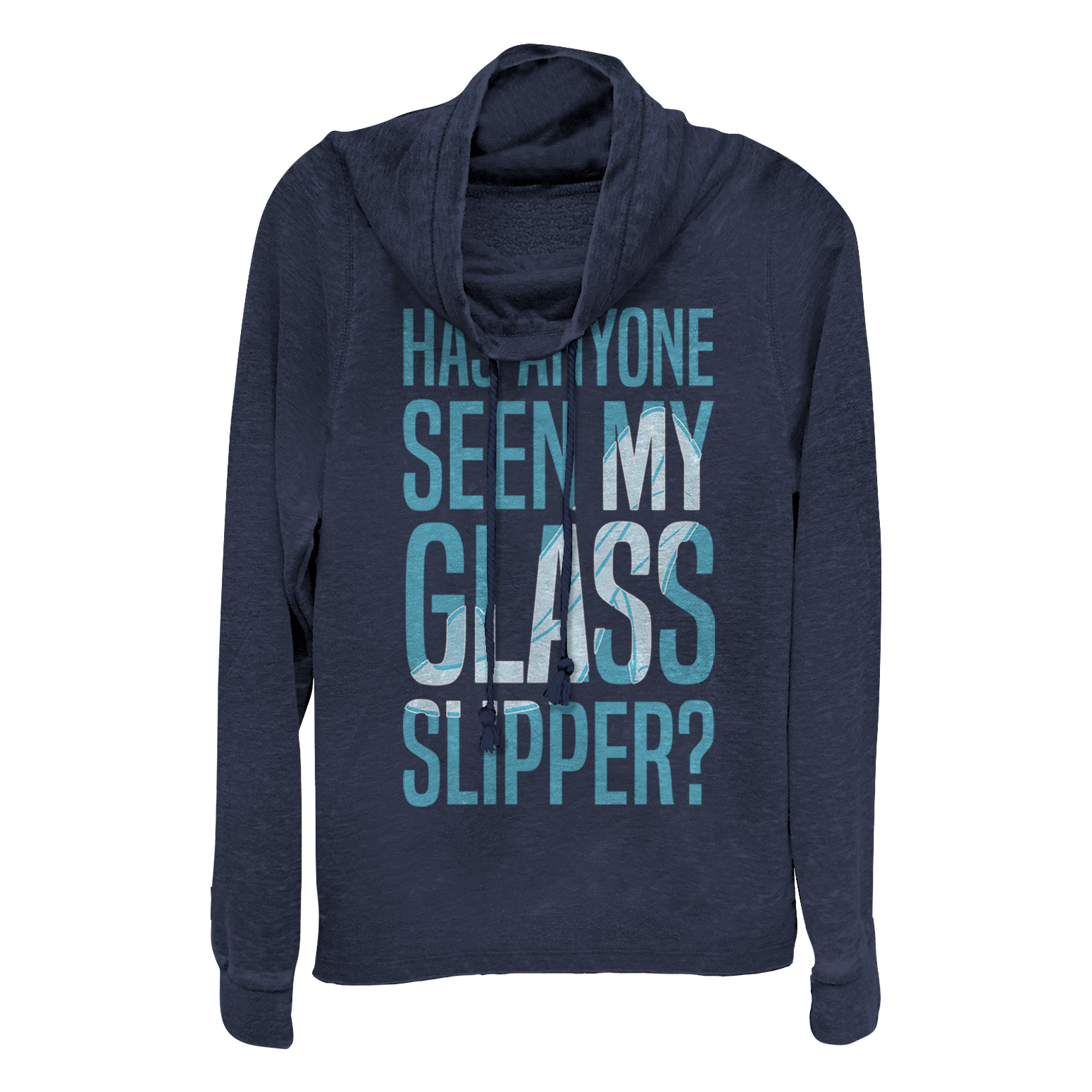 Cinderella Juniors' Glass Slipper Cowl Neck Sweatshirt