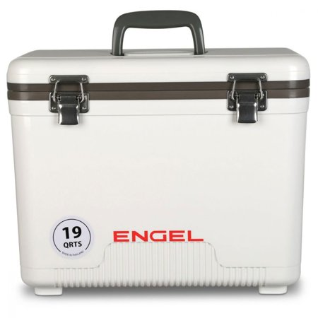 Engel 19 Quart Fishing Live Bait Dry Box Ice Cooler with Shoulder Strap, White](Halloween Dry Ice Uk)
