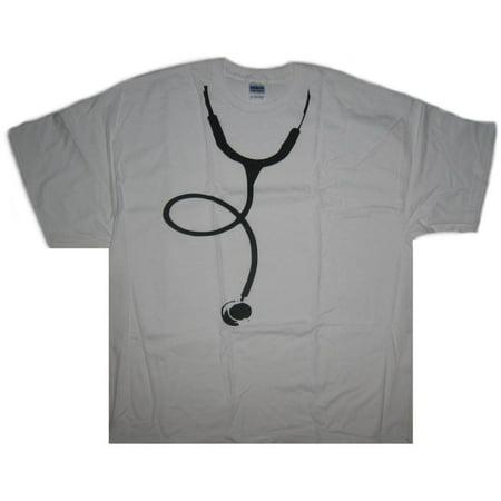 Doctor Stethoscope Costume Medical White Adult T-Shirt - (2X-Large)