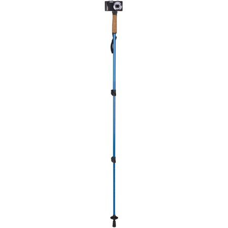 Telescopic Hiking Staff (Outdoor Products Monopod Trekking / Walking / Hiking Pole, Blue - Selfie Stick)