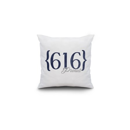 grand rapids michigan 616 area code blue lantern press artwork 16x16 spun polyester pillow custom border