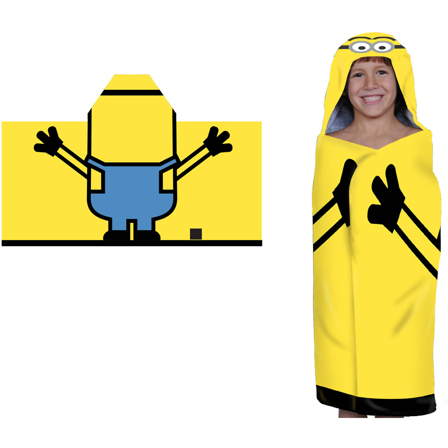 Despicable Me Minions Hooded Bath Towel by Franco