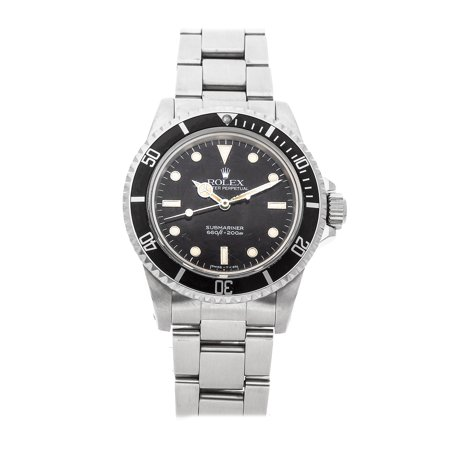 "Pre-Owned Rolex Vintage Submariner ""No Date"" 5513 Watch (2-Year WatchBox warranty)"