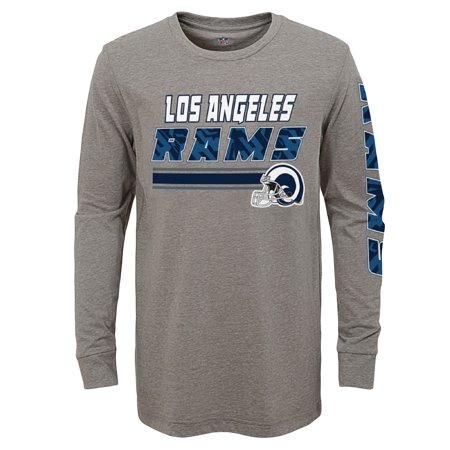 Youth Gray Los Angeles Rams Long Sleeve T-Shirt