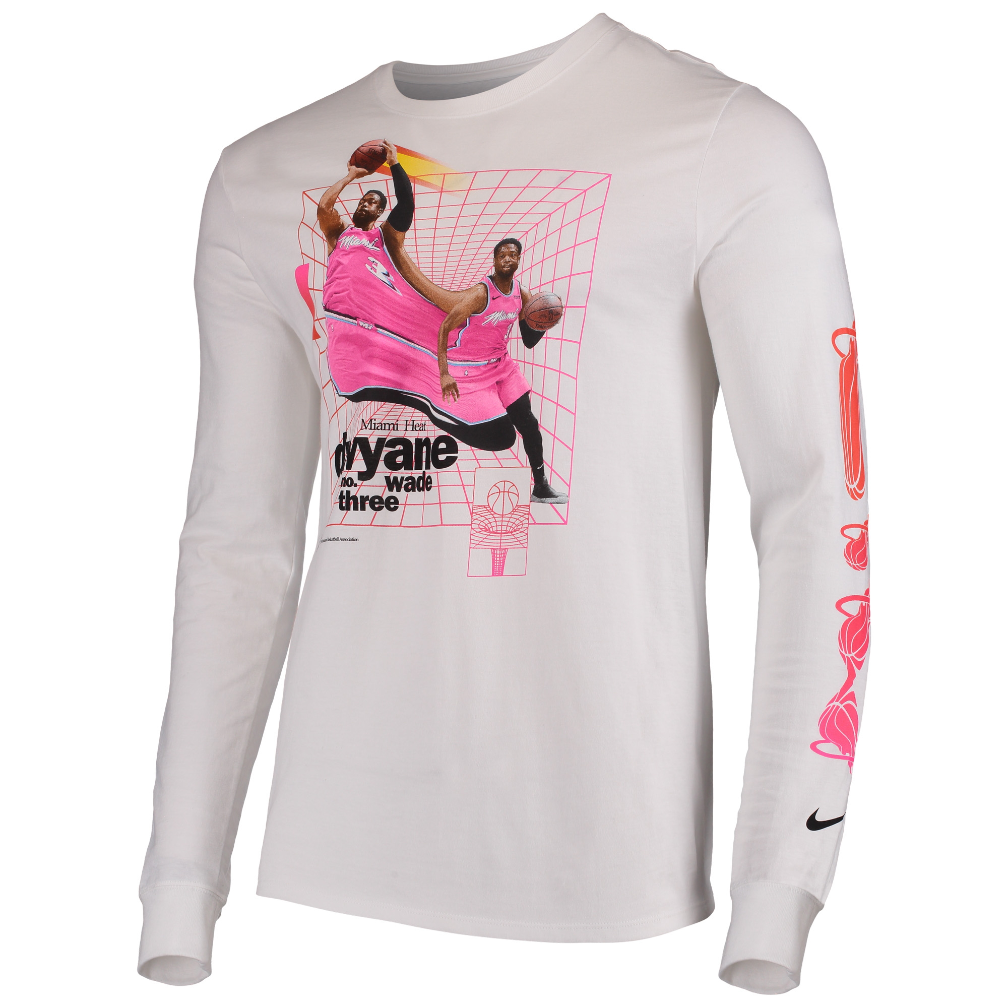 6c0a1a65 Dwyane Wade Miami Heat Nike Time Warp Long Sleeve T-Shirt - White -  Walmart.com