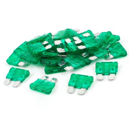 30pcs Green Body Two Prong Blade ATC Fuse 30Amp 30A for Car
