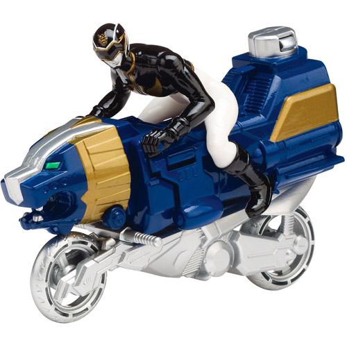 Power Rangers Sea Lion Cycle and Black Ranger Action Figure Play Set