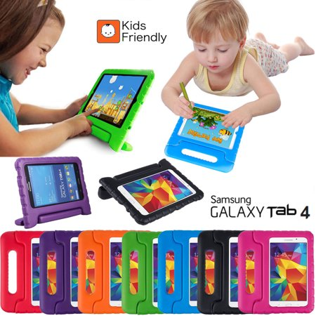 Galaxy Tab 4 7 0 T230 Kids Case by KIQ Child-Friendly Fun Kiddie Tablet  Cover EVA Foam For Samsung Galaxy Tab 4 7 0 Inch SM-T230 (Black)