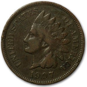 1907 Indian Head Cent Good+