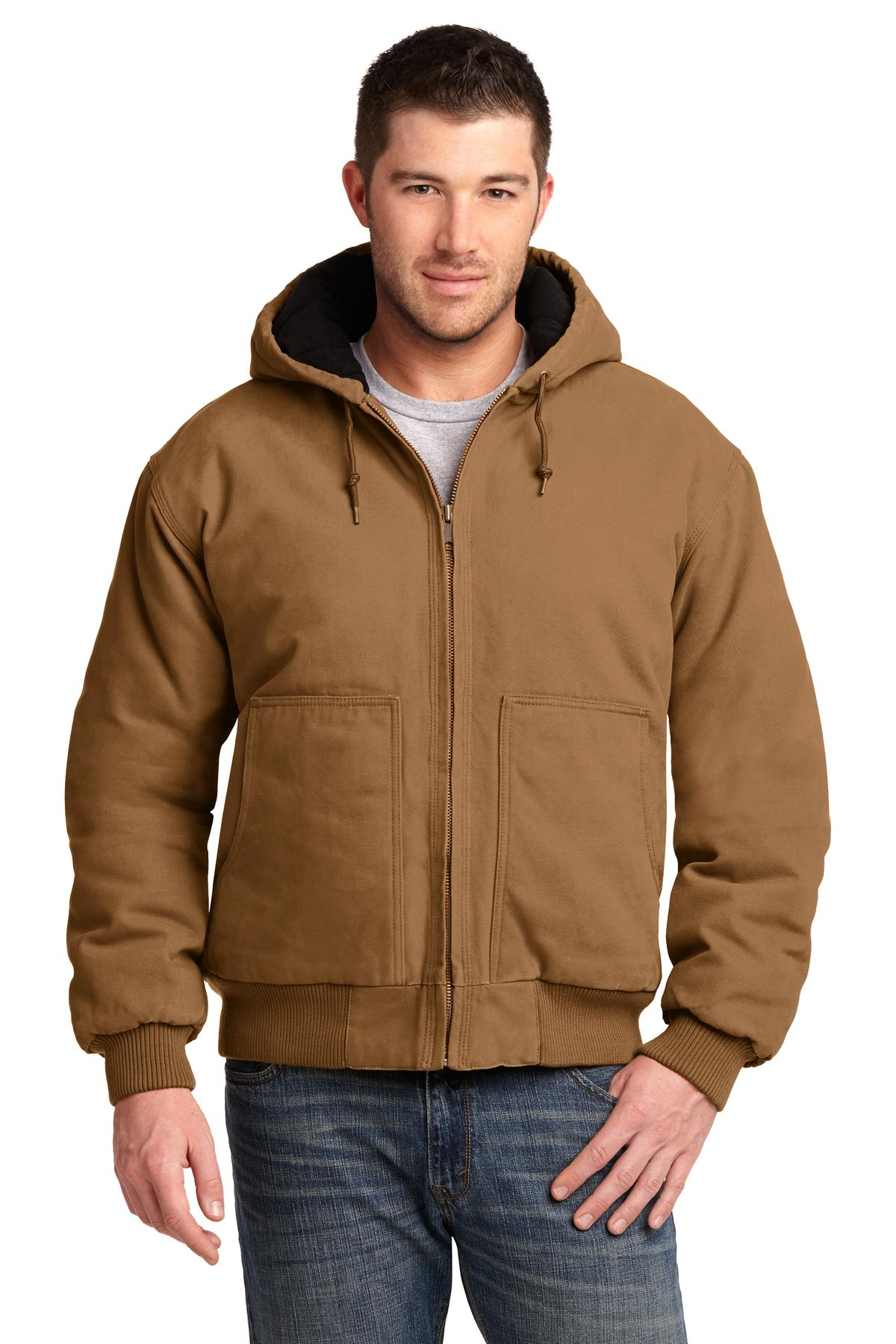 CornerStone Washed Duck Cloth Insulated Hooded Work Jacket