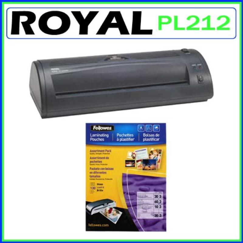 Royal PL-2112 12-Inch Hot Roller Laminating Machine + Lam...