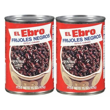 El Ebro Cuban Style Black Beans Frijoles Negros ready to eat. 15 Oz (Pack of 2)