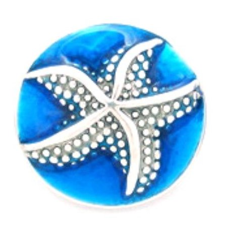 Snap Round Starfish metal snap buttons fit Ginger snap 18mm