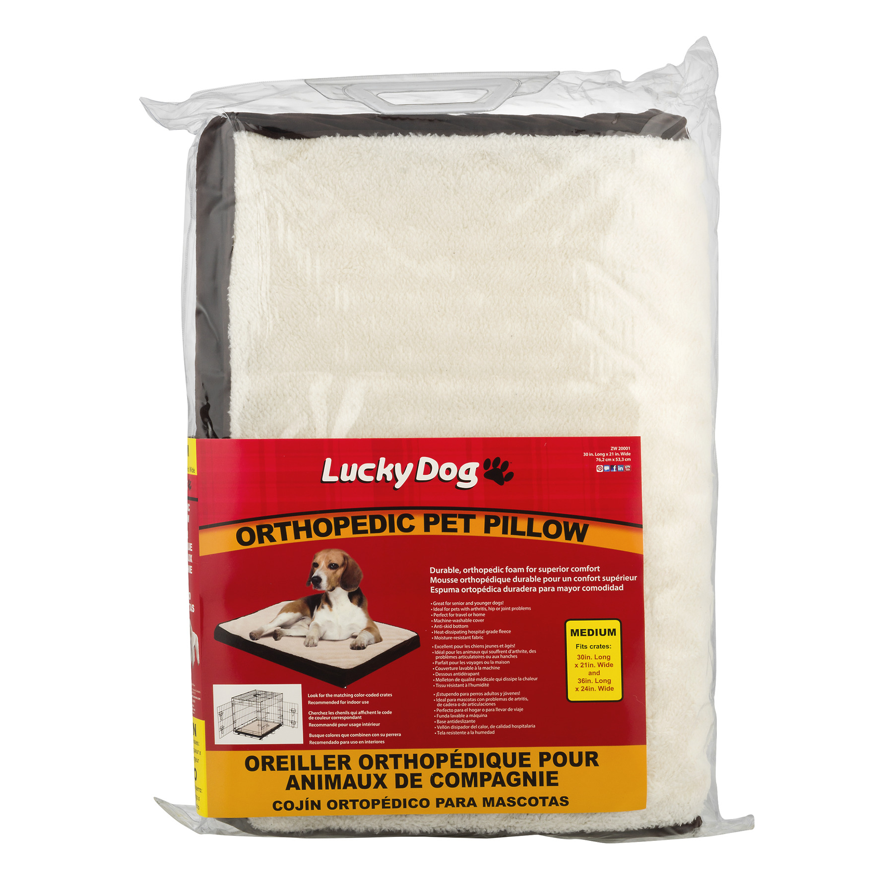Lucky Dog Orthopedic Pet Pillow Medium, 1.0 CT