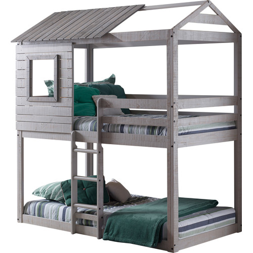 Harriet Bee Beadnell Twin over Twin Bunk Bed