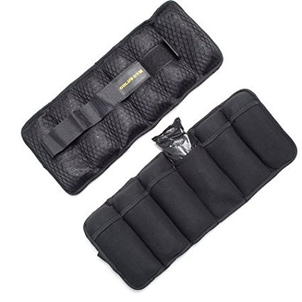 Gold's Gym 10-Pound Pair Adjustable Ankle Weights, Assist in building muscle and increasing stamina By Golds Gym